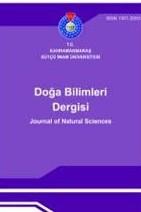Kahramanmaraş Sütçü İmam Üniversitesi Doğa Bilimleri Dergisi