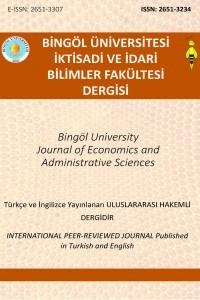 Bingöl Üniversitesi İktisadi ve İdari Bilimler Fakültesi Dergisi