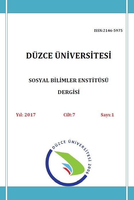 Journal of Düzce University Institute of Social Sciences