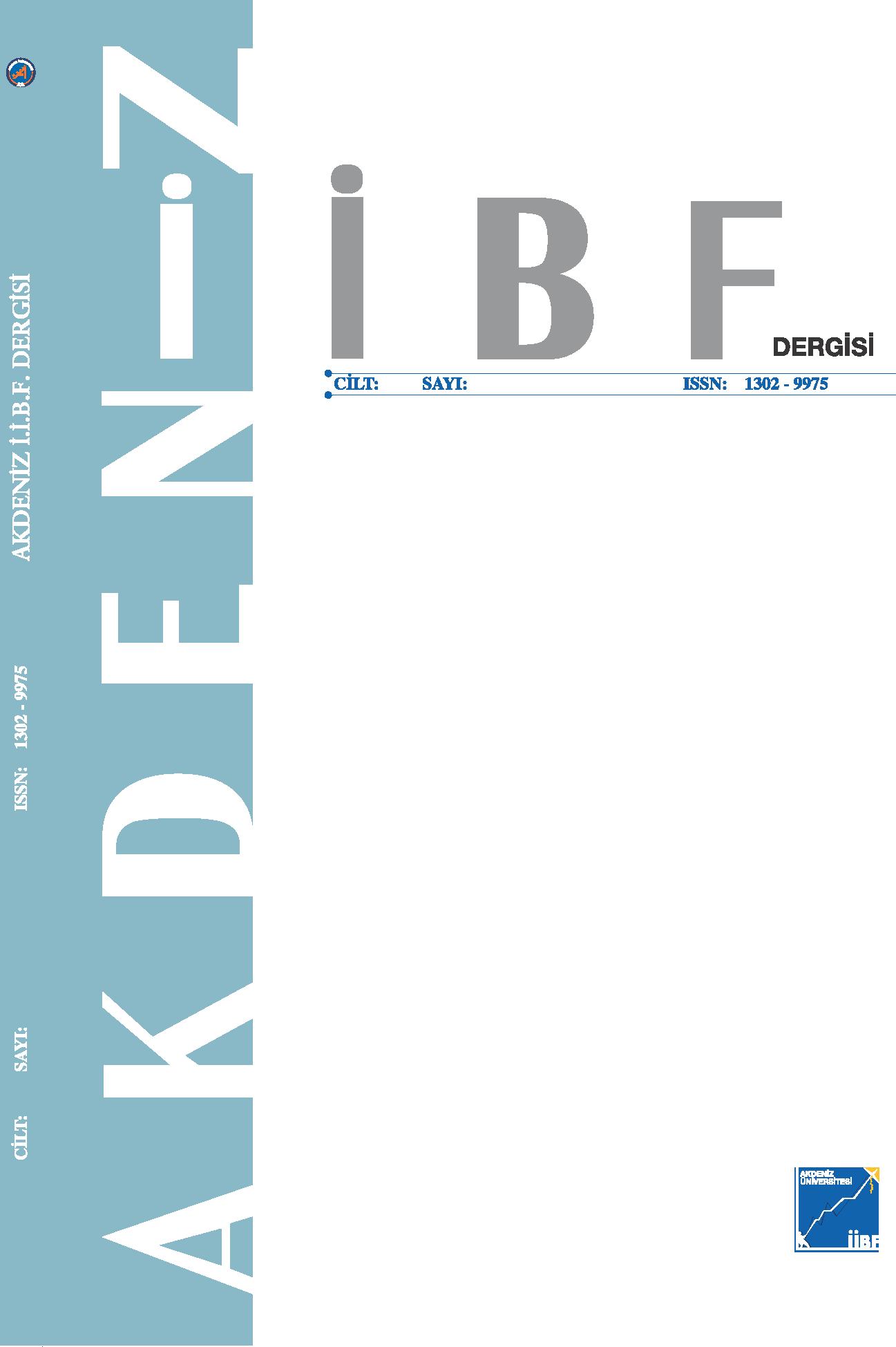 Akdeniz İİBF Dergisi
