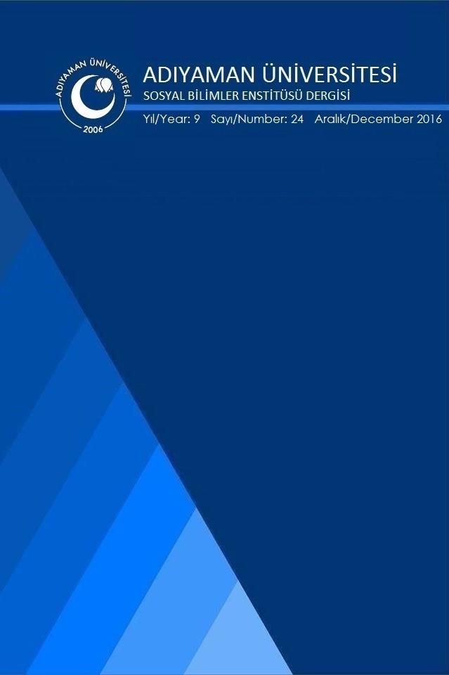 Adiyaman University Journal of Social Sciences