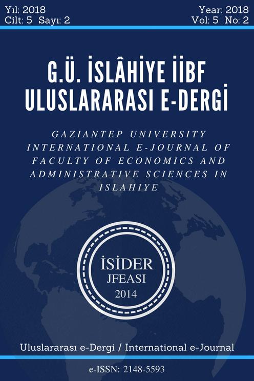 G.Ü. İslahiye İİBF Uluslararası E-Dergi
