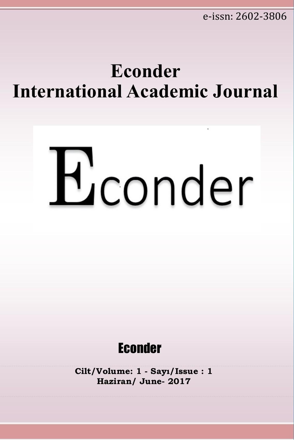 Econder Uluslararası Akademik Dergi